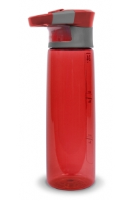 A red Contigo Madison water bottle