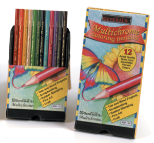 General Pencil's Multichrome line of colored pencils