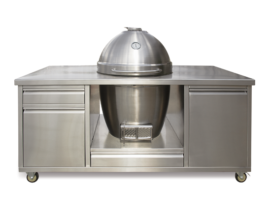 big green egg large table stainless steel top