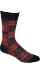 Patchwork Plaid Sock